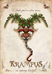 Krampus card 1 by MecaniqueFairy