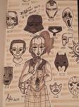 Inktober 2017 - 31 Mask by MecaniqueFairy