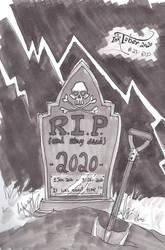 INKTOBER 2020: #23 - R.I.P.
