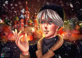 A cold night in Russia : Victor Nikiforov by Nanochiii