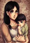 Carla Jaeger and Baby Eren