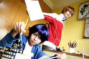 Bakuman: Saiko and Shujin by BanditYinG