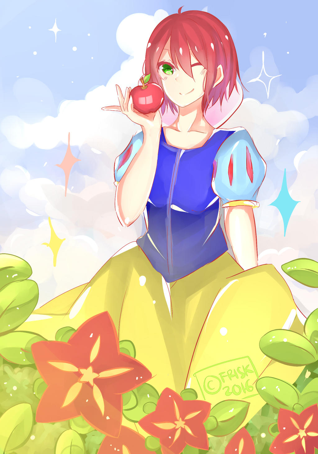 Snow White/?/ with The Red Hair by Furishiki-chan on ...