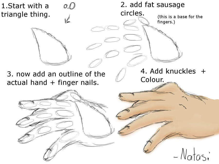 How to draw hands like me.