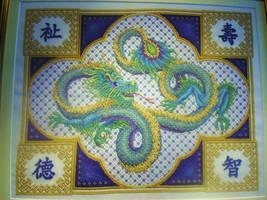 Celestial Dragon by StitchingDreams
