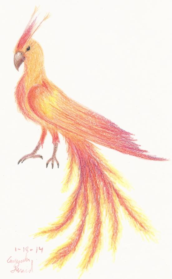 Crayon Phoenix by Drei-Korvik
