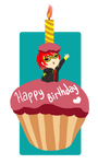 Happy Birthday SPH  707 cupcake by Selanime