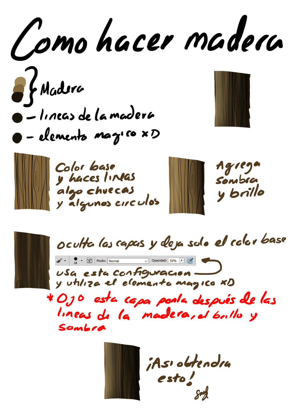 Tutorial| Como hacer madera by Selanime