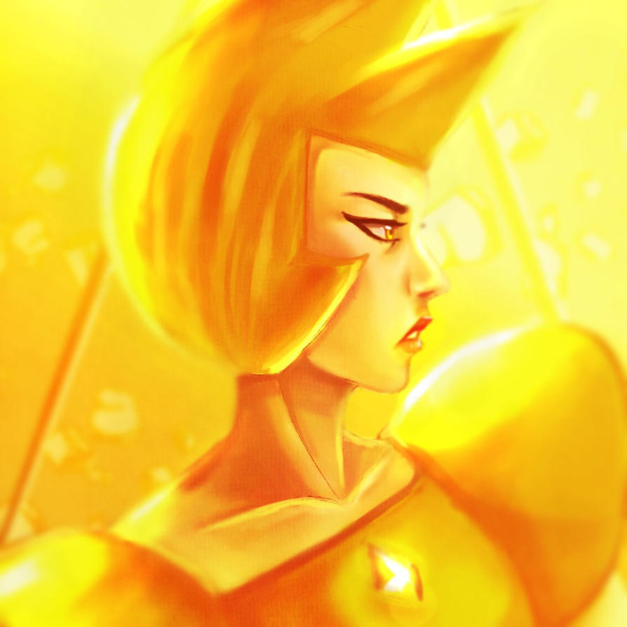 Here.. a Yellow Diamond fanart. Can't wait for Steven Universe new episode~ I hope you like it ^^
