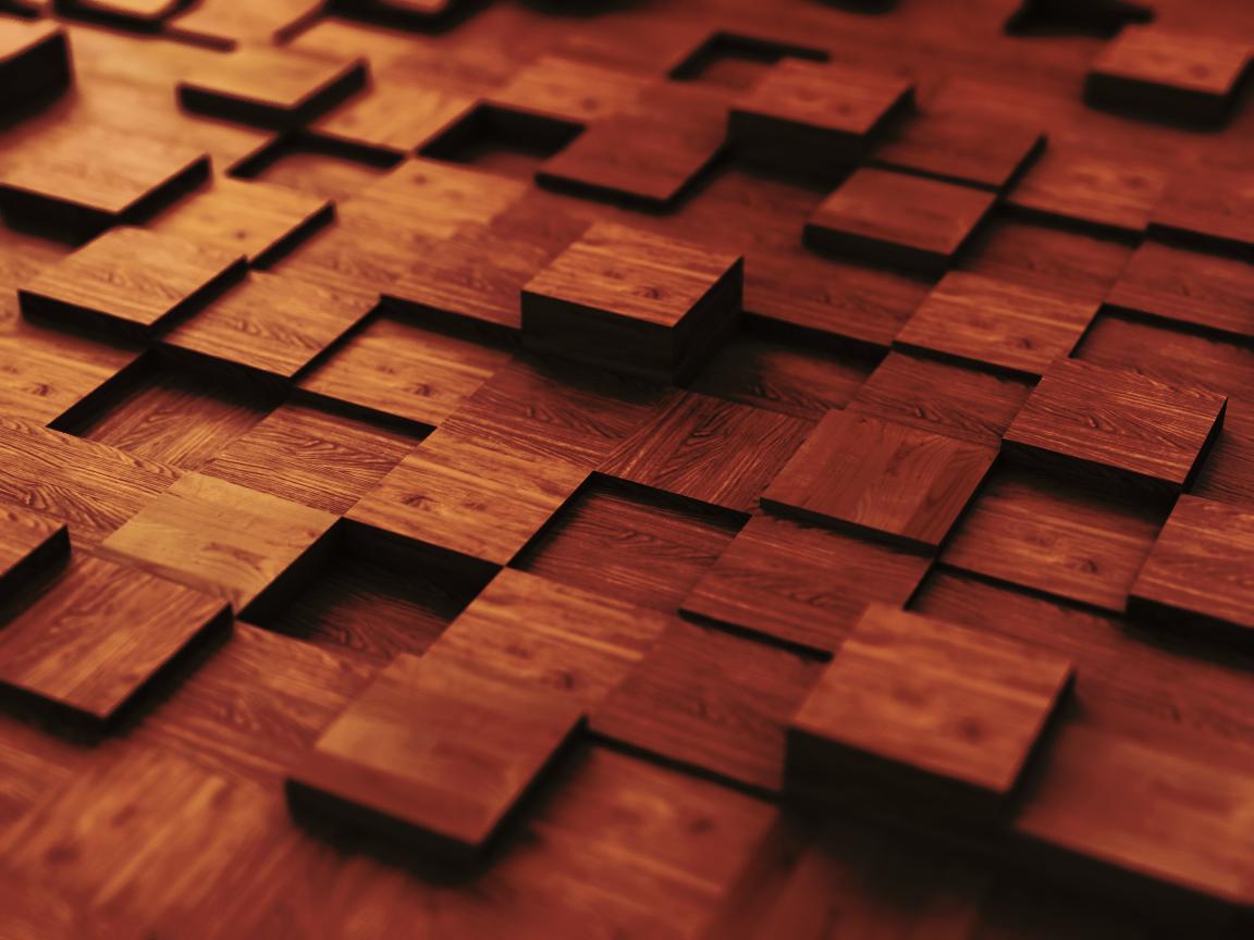 Wooden Cubes - dark