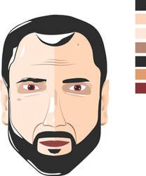 male face by Toruar