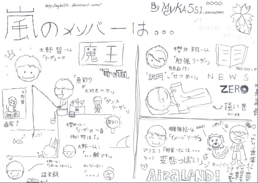 ARASHI SCAN-DOODLE 1 by myka551