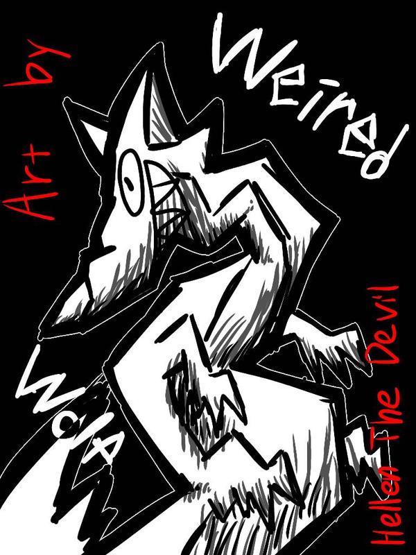 weird wolf by HellenTheDevil