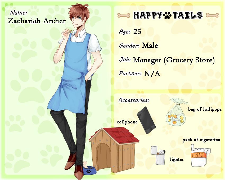 Happy Tails: Zac Archer (LEFT) by flavorkun