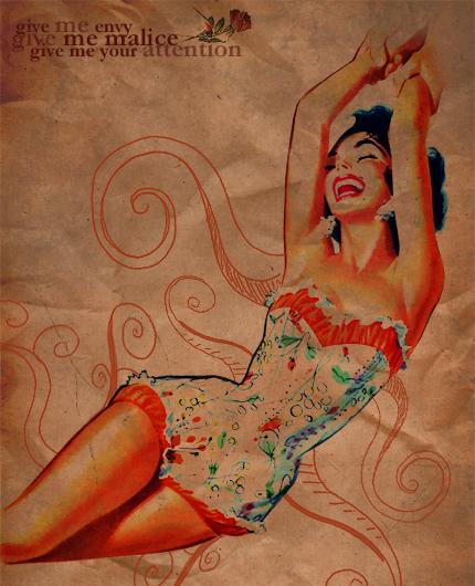 woman vintage. by filipecopi