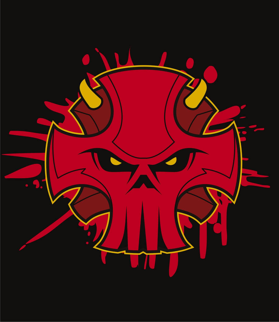Infidel Skull Logo Devil by BurningEyeStudios