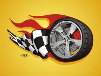 Wheel Illustration by BurningEyeStudios