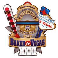 Baker to Vegas Law Enforcement Run T-Shirt Design by BurningEyeStudios