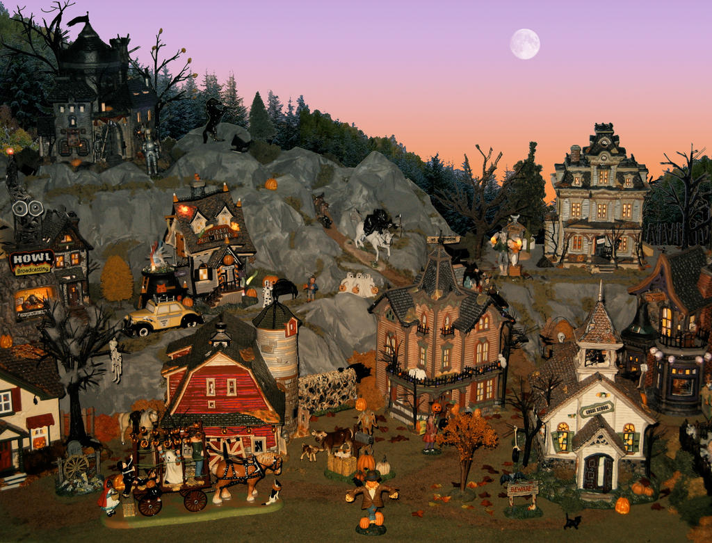 Halloween Village by MiniCarly on DeviantArt