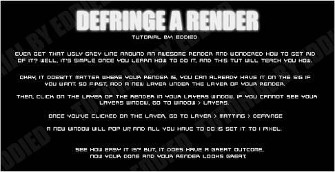 Render Defringe by EddieD