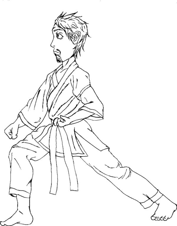 karate coloring page by lumpy14