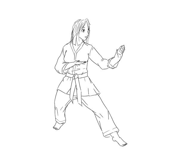 Karate Coloring Page 2 By Lumpy14