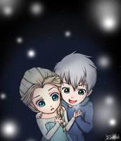 Jack x Elsa: Snowflakes by hapeeredink