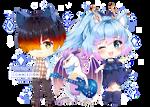 Commission - Kleo, Yoru and Uloe
