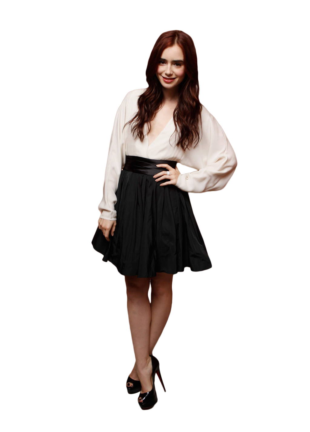 Lily Collins Transparent Pictures To Pin On Pinterest
