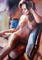 Woman Painting by mickehill