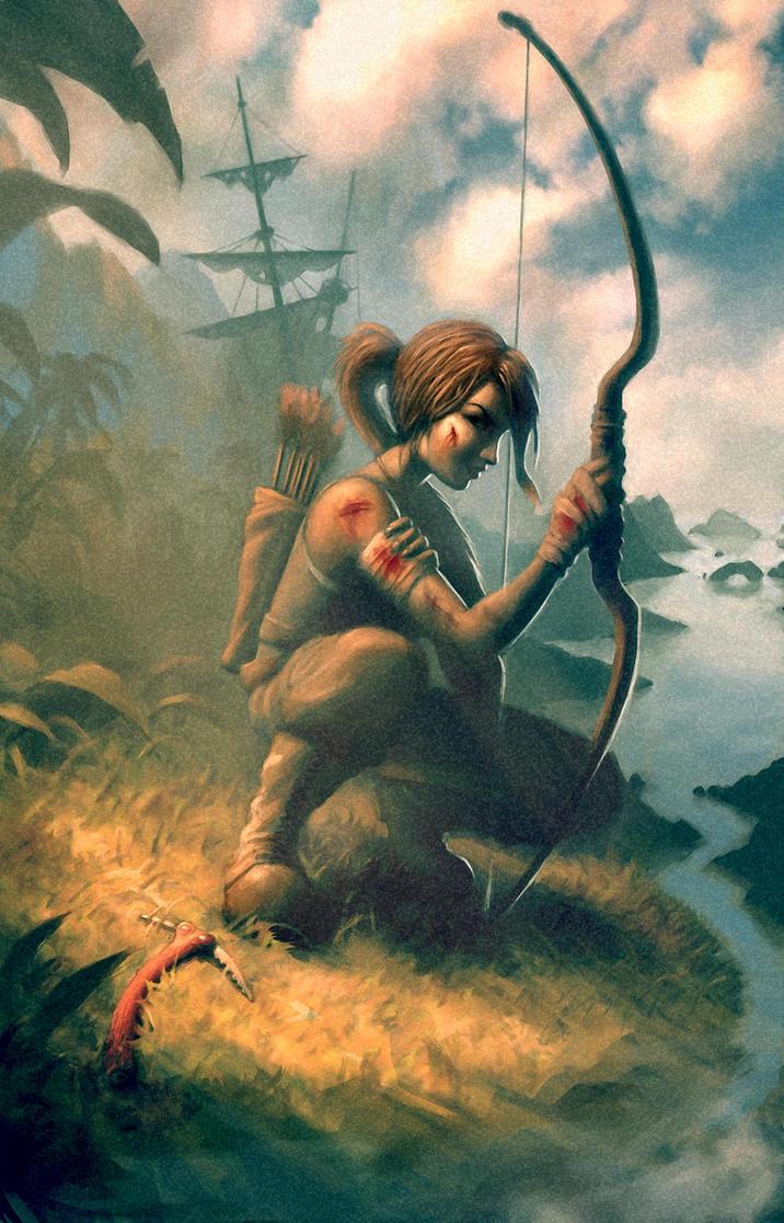 Lara Croft Survivor by mickehill