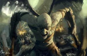 Gargoyle Warrior by mickehill