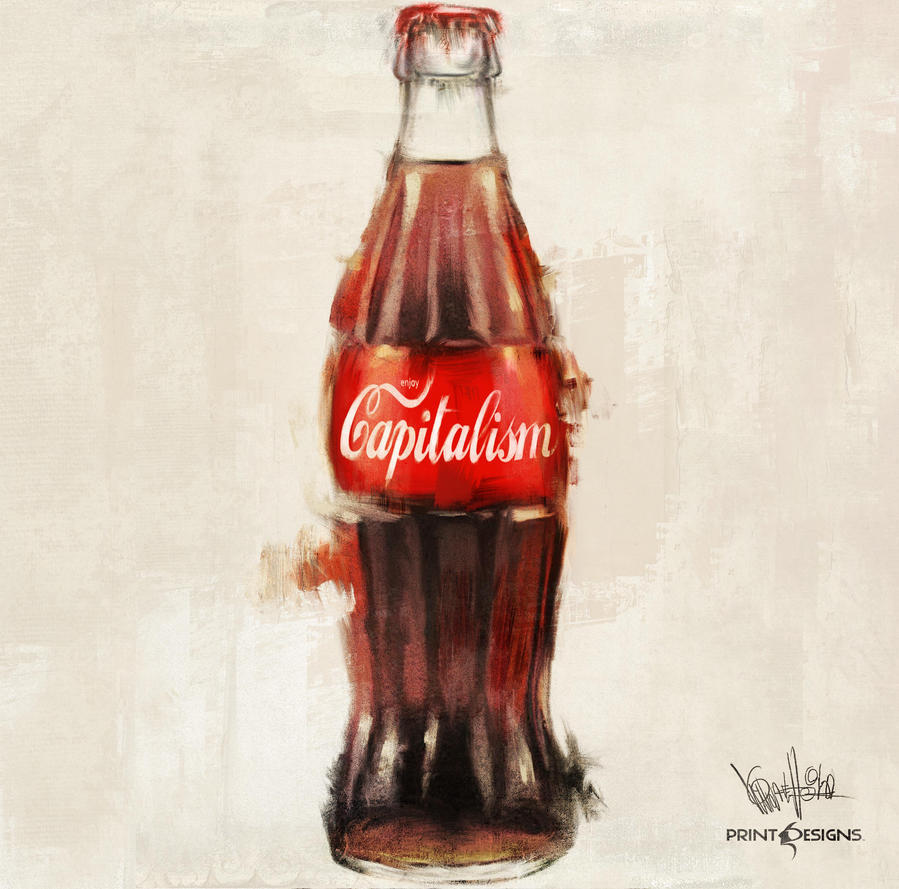 Capitalism Bottle by mickehill