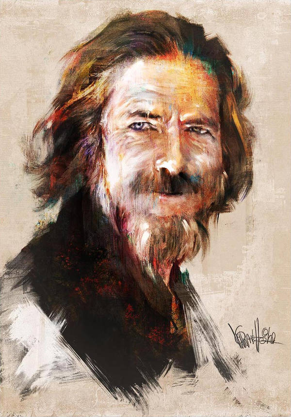 Alan Watts Tribute #2 by mickehill