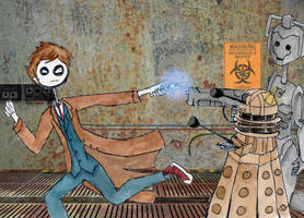 Doctor who Tim b style request by icantstopdrawing