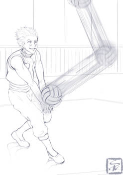 Prompt: Fav character playing your fav sport