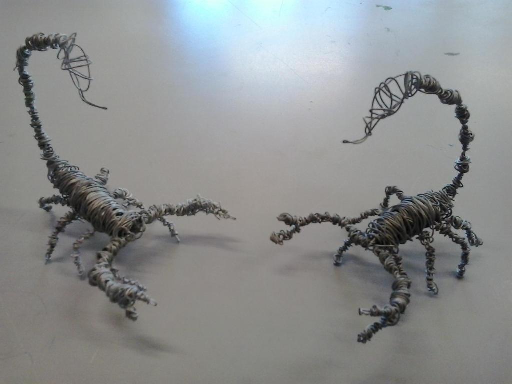 Wire Scorpions sculpture 1 by god2000zilla on DeviantArt