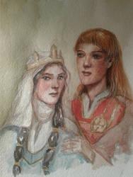 Maedhros and Fingon - medieval AU