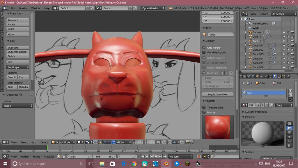 Toriel Head Model by AWESOMEKILLING