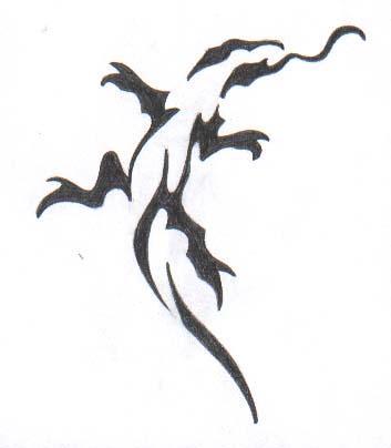 tribal lizard tattoos. Tribal lizard .:Tattoo model:.