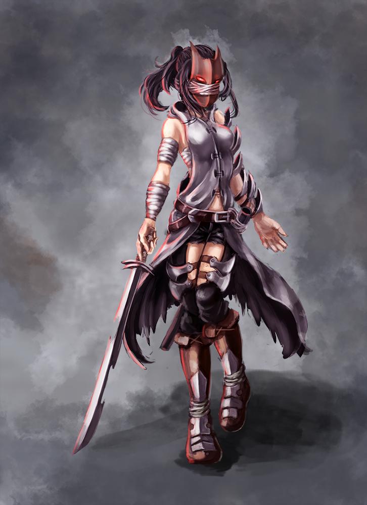 Dark warrior female by draketurtle on deviantart - Anime female warrior ...