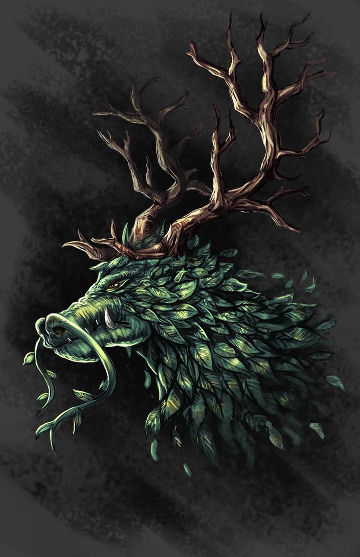 Nature Dragon by DrakeTurtle