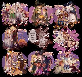 SCom: Halloween commish! by Viridilly