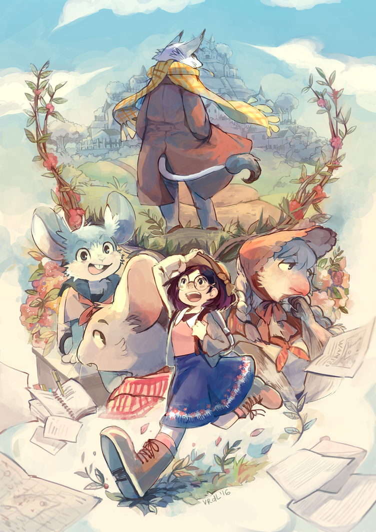 Tales of Tails and Towns - One Day Artbook by Viridilly