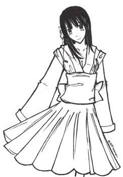Houseki-chan Line art