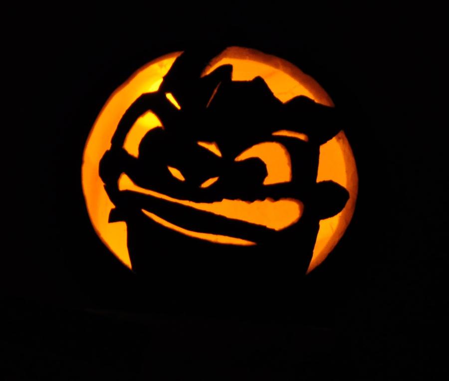 Toothless pumpkin by caresse par la lumie on deviantart