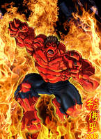 Red Hulk Unleashed by WOLVERINE76