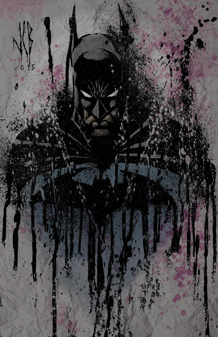 batman splatter by WOLVERINE76