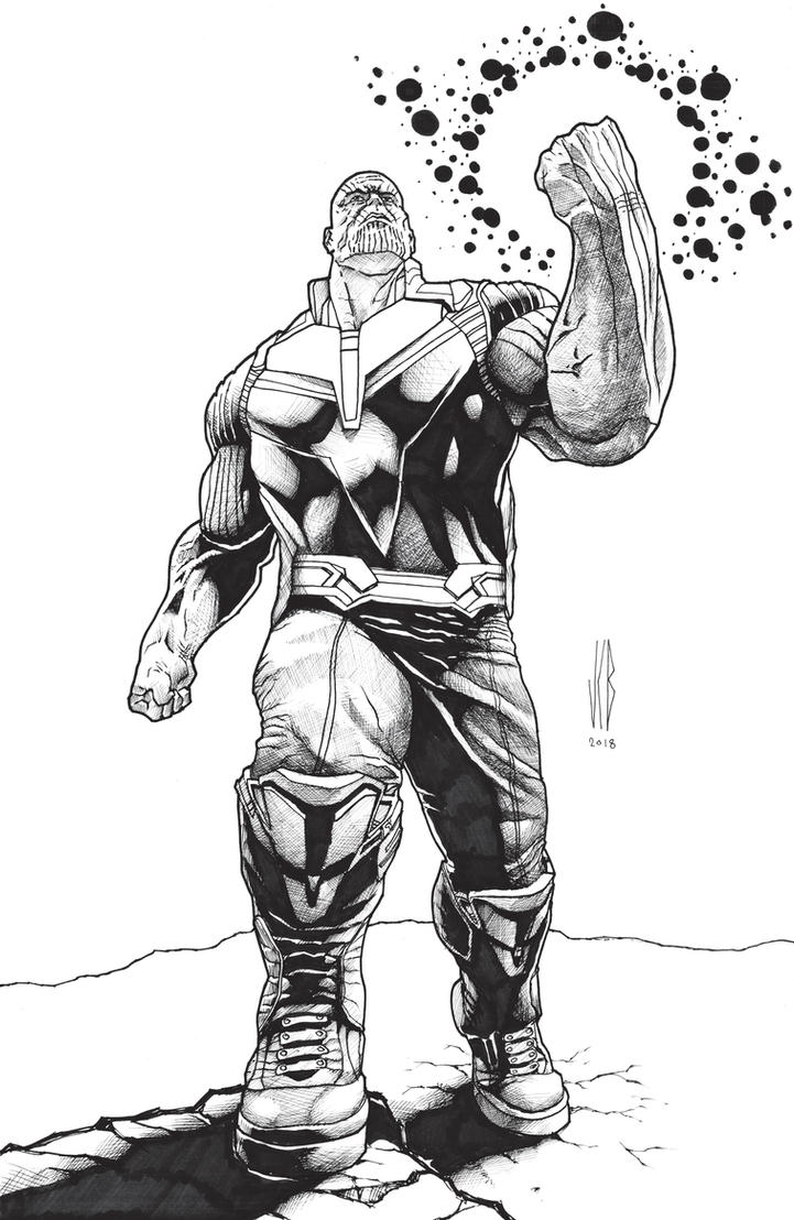 rage of thanos inks by WOLVERINE76