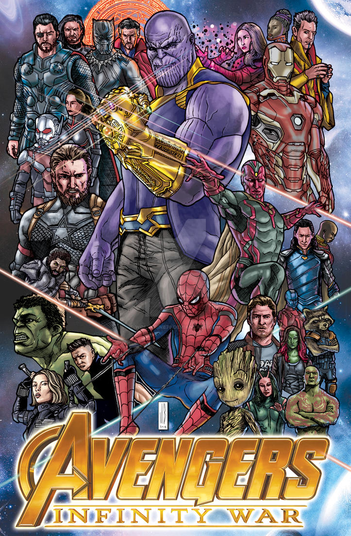 avengers in color by WOLVERINE76